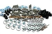 158 Piece Universal Race Track Pack Motorcycle Fairing Frame Bolts Fixings Dzus