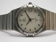 Omega Constellation Stainless Steel Mens Quartz Watch 1512.30 Silver Dial