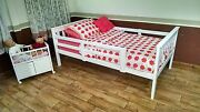 Twin Or Full Upgradeable Bed And Safety Rails 9 Paint Options Amish Made In Usa