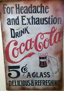 Coca-cola For Headache And Exhaustion-drink Coca-cola Advertising Sign