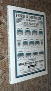 Ford And Mercury 1949-1959 Full-size Car Catalog,mac's Antique Auto Parts,vg-, B13