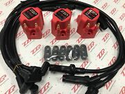 Zzperformance 3800 High Voltage Coil Packs + 10.5mm Black Spark Plug Wire Combo
