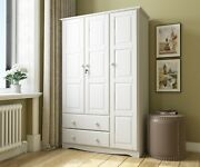 100 Solid Wood Grand Wardrobe/armoire/closet By Palace Imports 5 Colors