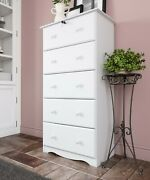 100 Solid Wood 5-super Jumbo Drawer Chest With Lock By Palace Imports 4 Colors
