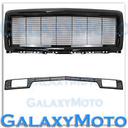 14-15 Chevy Silverado 1500 Black Billet Grille+replacement Shell+bumper W/tow