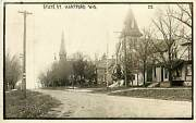 Wisconsin Wi Hartford State Street 1912 Real Photo Postcard