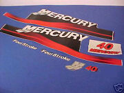 Brand New Authentic 40hp Mercury Factory Decal Set