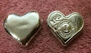 1 Oz Hand Poured 999 Silver Bullion Bar Heart By Yps - Yeagerand039s Poured Silver