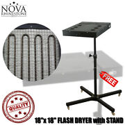 Nvfd-18 18x 18 Flash Dryer With Stand For Silk Screen Printing