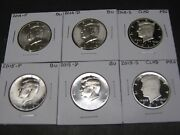 2014 2015 P-d-s Clad Proof Kennedy Half Dollars 6 Coins From Mint Rolls