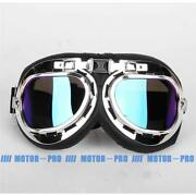 Steampunk Goggles Motorcycle Flight Pilot Tinted Frame Protecter