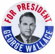Andldquofor President George Wallaceandrdquo Picture Button.