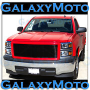 14-15 Chevy Silverado 1500 Black Billet Grille+victory Red Replacement Shell