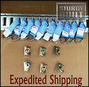 16pc Etrack Fitting 10x E Track Tie Off And 6x Oring Truck Cargo Enclosed Trailer