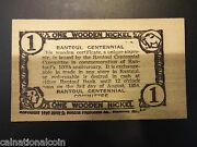 Rantoulil Centennial One Wooden Nickel Honorary Issue Souvenir Certificate 1954