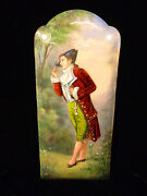 Limoges Enamel On Copper Of Aristocratic Gentleman W/ Foil Highlights Circa 1880