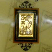 10 Pack Acb Gold 5grain 24k Solid Bullion Minted Bars 99.99 Fine With Coa/