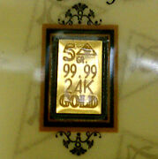 Acb Gold 5grain 24k Solid Gold Bullion Minted Bar 99.99 Fine With Certificate.