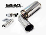 Obx Catback Fits 2001 To 2009 Volvo S60 Fwd 2.0/ 2.4/ 2.5t T5/2.4d D5