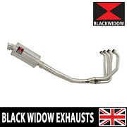 Black Widow Zx7r Zx7-r Full 4-1 Exhaust System Oval Stainless Silencer 230ss