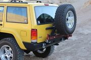 Rock Hard 4x4 Patriot Series Rear Bumper And Tire Carrier For 84-01 Jeep Cherokee