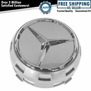 Oem 000-400-09-00-9790 Center Cap Raised Logo Gray And Chrome For Mercedes Benz