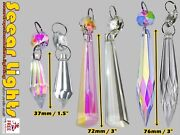 Chandelier Glass Crystals Drops Antique Ab Droplets Icicle Iridescent Lamp Parts