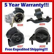 K445 Fits 1990-1992 Toyota Corolla 1.6l 2wd Auto 4speed Motor And Trans Mount 4pcs
