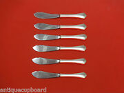 Delicacy By Lunt Sterling Silver Trout Knife Set 6pc Hhws Custom Made
