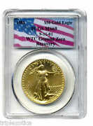 1986 Pcgs Ms69 Wtc Recovery 50 Gold Eagle Very Rare Only One On Ebay