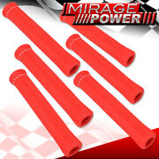 For Nissan 6-piece Slip On Spark Plug Wire Heat Sleeve Insulation Wrap Red
