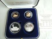 1992 Israel Holy Land Wildlife/song Of Songs Roe And Lily 2 Gold +2 Silver Coins