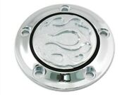 Chrome Flame Fire Timer Points Ignition Cover For Harley Twin Cam 00-17