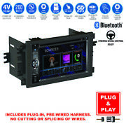 Plug-in Touch Screen Usb Bluetooth Radio Cd Player+chevy Car Stereo Dash Kit