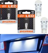 Sylvania Zevo Led Light 2825 White 6000k Two Bulb License Plate Replace Oe Fit