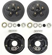 Trailer 5 On 4.5 Hub Drum Kits With 10x2-1/4 Electric Brakes For 3500 Lbs Axle