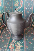 Wedgwood Black Basalt Porcelain Coffee Pot Antique C1790s With Widow Cover
