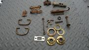 Antique Vintage Door Plate And Latch Hardware Lot Steampunk