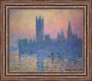 Claude Monet The Houses Of Parliament Winter Framed Canvas 31x27 V08-06