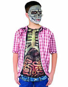 Photo Real Skeleton Zombie With Guts Top Horror Boys Halloween Costume - Large