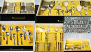 Antique Silver Dutch Huge 236 Pc Silverplated Gero Netherlands 30and039 -50and039 Cutlery
