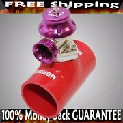 2.5 Red Silicone Type S Adapter+type S Bov Fits Acura Bmw Toyota Mitsubishi