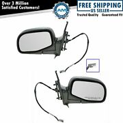 Power Side View Mirrors Folding Textured Pair Set New For Ford Ranger B-series