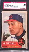 Dale Mitchell Signed 1953 Topps Card 26 Sgc Authentic Slabbed
