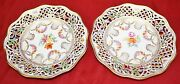 Set Of 2 Schumann Germany - Bavaria Us Zone Reticulated Salad Plates - Empress -