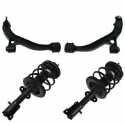 4 Piece Front Steering And Suspension Kit Strut Assembly Control Arms W/ball Joint