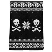 Skull And Crossbones Ugly Christmas Sweater All Over Hand Towel