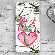 Love Deer Head Camo Snow White Pink Iphone 44s55s5c66s6+6s+ Case Cover