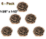 Lot Of 6 Pc Copper Rose Concho Western Leather Craft Pageant Cowgirl 2 Sizes New
