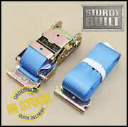 8x 16and039 E Track Ratchet Tie Down Strap Truck Trailer Enclosed Cargo Van Straps